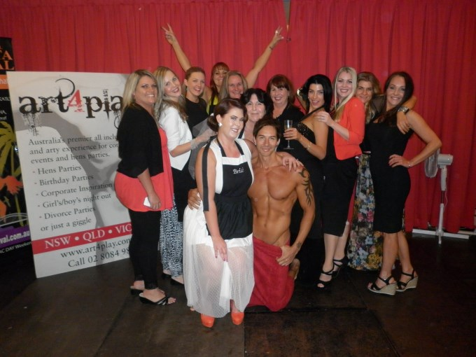 a hens party group