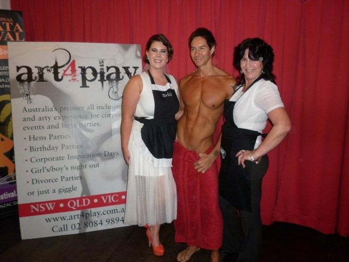 two hens night girls with their life model